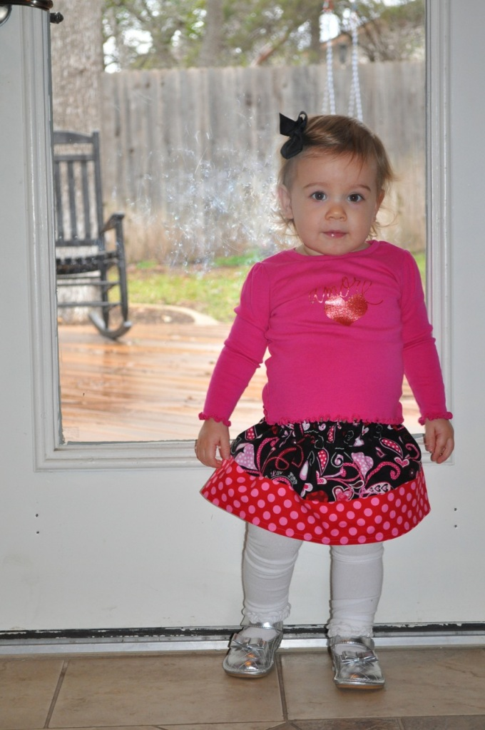 A Sassy Valentines Day Skirt for a Silly Girl