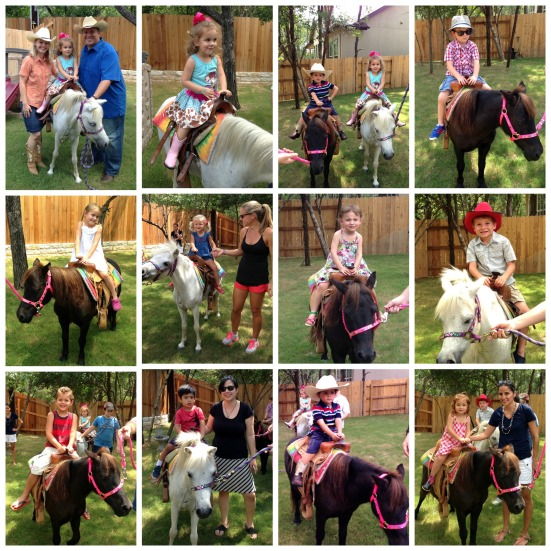 Pony rides at Cowgirl birthday from noiinClare.com