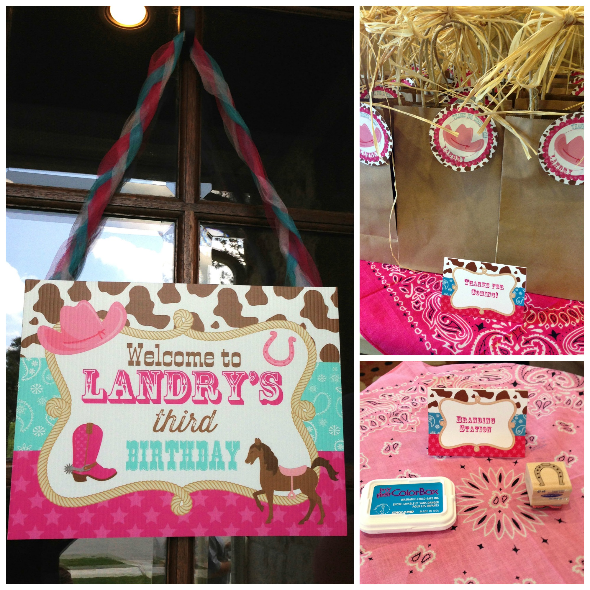 Cowgirl Birthday Decorations Landrys Cowgirl 3rd Birthday Party Theres No I In Clare