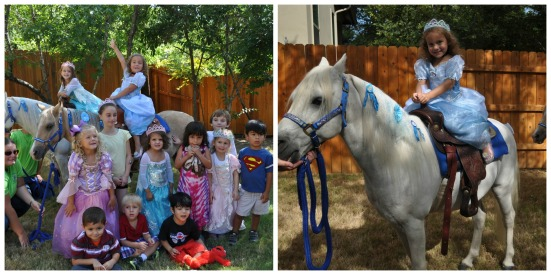 Landry loved having her prince and princess friends help her celebrate her birthday!