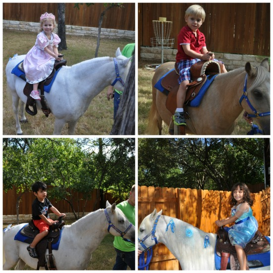 Isabel, Vicente, Mateo, and Brynn enjoyed their rides